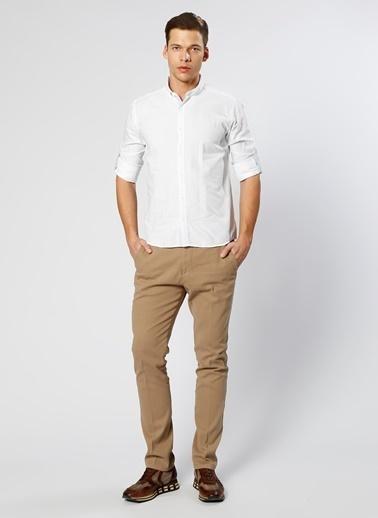 T-Box Uzun Kollu Gömlek Beyaz